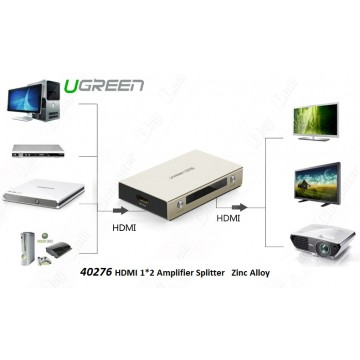 UGREEN 40276 1x2 HDMI Amplifier Splitter - Zinc Alloy