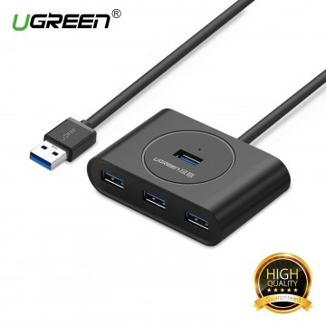 UGREEN 20290 USB 3.0 4 Ports Hub - Black
