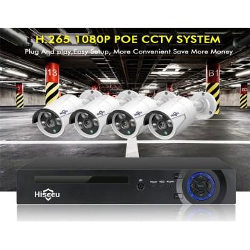 Hiseeu H5NVR 4CH 4MP PoE CCTV Systme