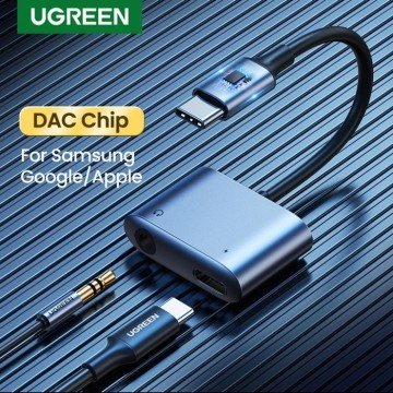 UGREEN 60164 2-in-1 USB C to 3.5mm Adapter