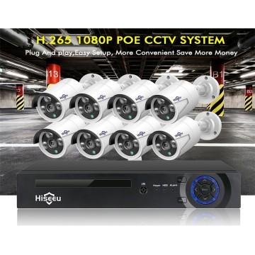 Hiseeu H5NVR 8CH 4MP PoE CCTV System